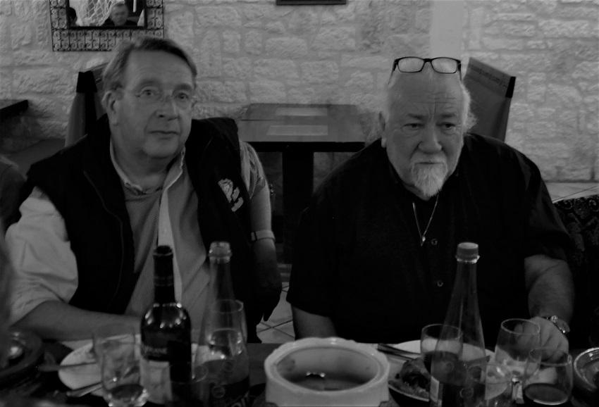 bourse St Benoît 2018 - Philippe et Christian , après l'effort, le réconfort